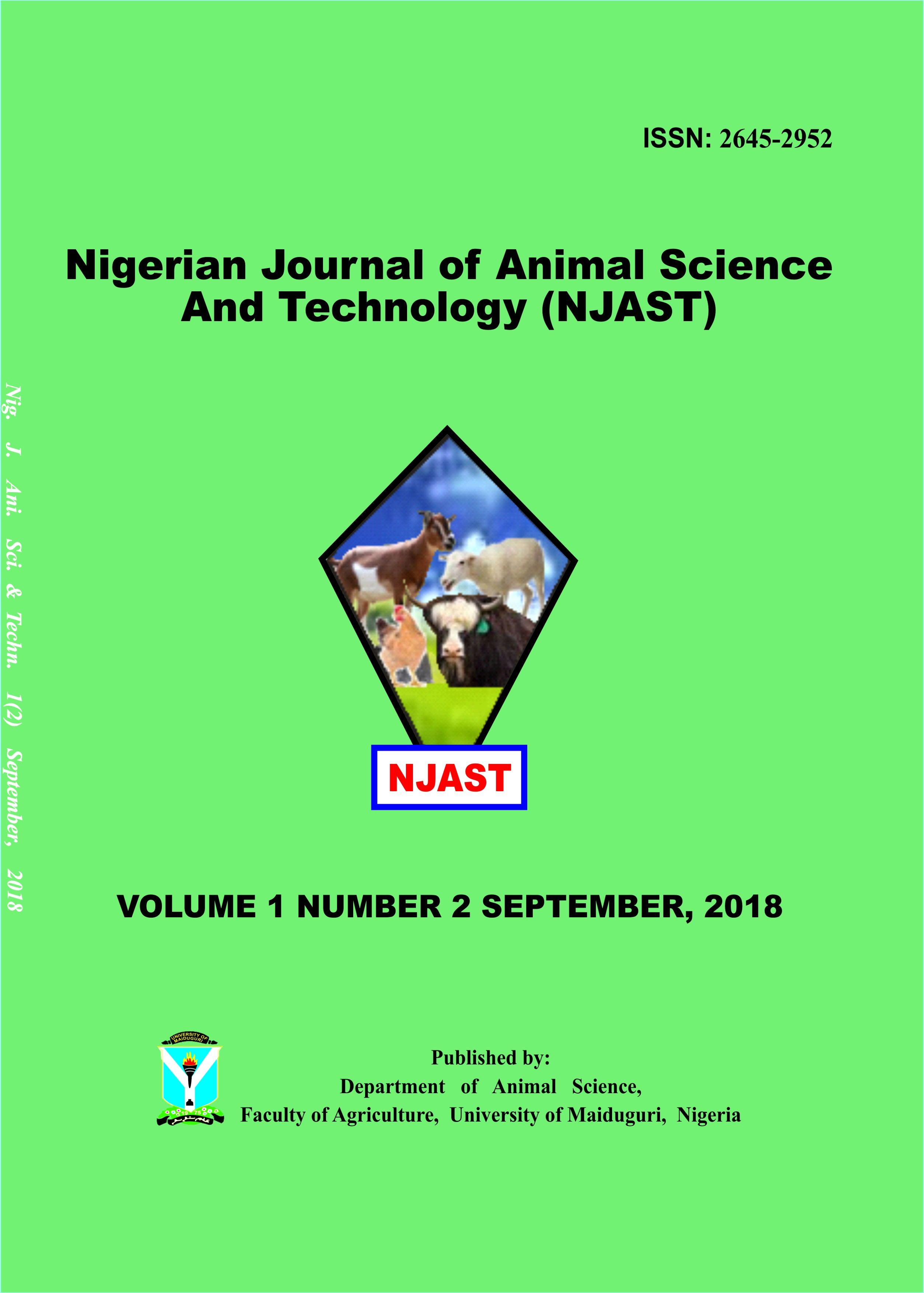 Nigerian Journal of Animal Science and Technology